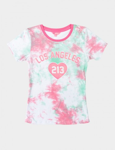 BLUSA LIZ SECRET FOR TEENS C/R M/C ESTAMPADO
