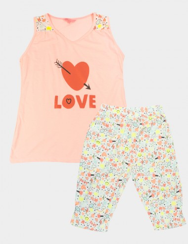 PIJAMA LIZ SECRET FOR TEENS C/CAPRI M/SISA EST.