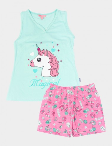 PIJAMA LIZ SECRET FOR TEENS C/SHORT M/SISA C/V